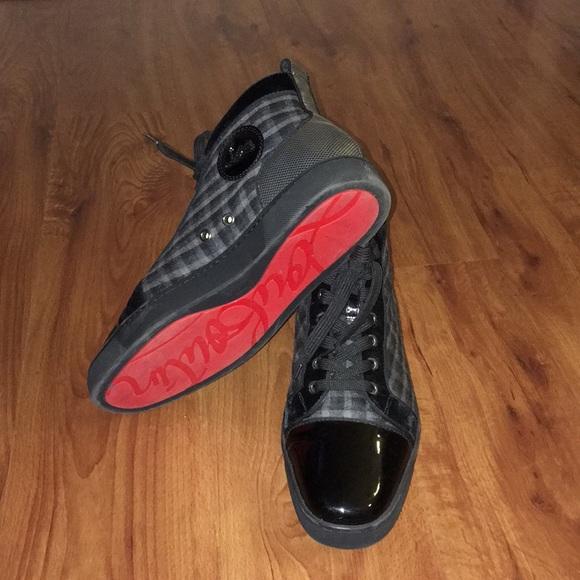 wholesale dealer ee3dc 7ec0b ♥️🔴 Christian Louboutin Mens High-Top Sneakers